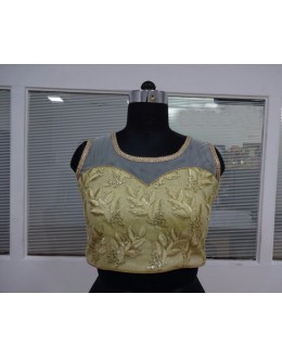 Traditional Readymade Beige Net Blouse - 18913