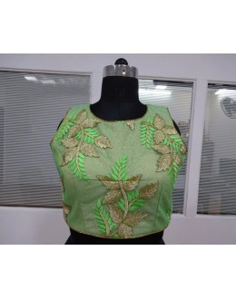Readymade Green Fancy Net Blouse - 18917