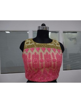 Party Wear Readymade Multi-Colour Net Blouse - 18926