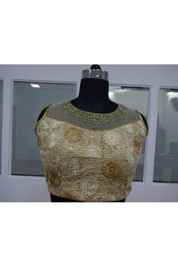 6f35b1eceb4af6 Party Wear Readymade Multi-Colour Net Blouse - 18927
