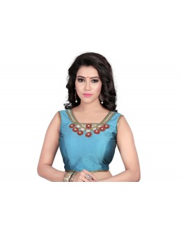 Ethnic Wear Readymade Sky Blue Blouse - 18937