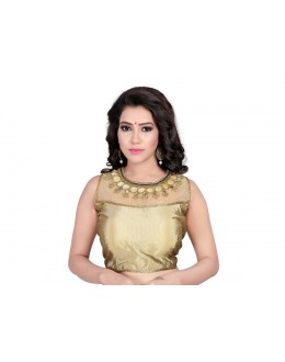 Ethnic Wear Readymade Golden Blouse - 18945