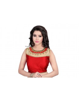 Ethnic Wear Readymade Red Blouse - 18949