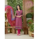 Casual Wear Pink Lawn Cotton Salwar Suit - 19018