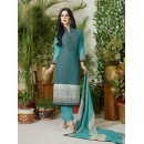 Office Wear Green Lawn Cotton Salwar Suit - 19019