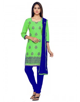 Office Wear Green Chanderi Salwar Suit - 19077