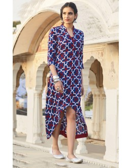 Readymade Multi-Colour Cotton Kurti - 19215