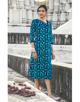 Ethnic Wear Readymade Multi-Colour Cotton Kurti - 19217