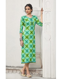 Readymade Multi-Colour Cotton Kurti - 19221