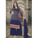 Casual Wear Blue Georgette Palazzo Suit - 19348