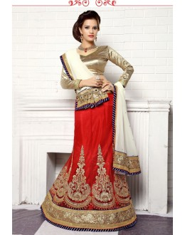 Traditional Red Viscose Lehenga Choli - 19505