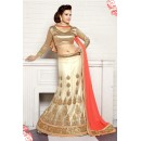 Wedding Wear White Viscose Lehenga Choli - 19507