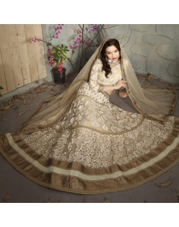 Multi-Colour Net Embroidery Lehenga Choli - 19512