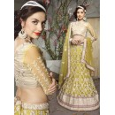 Traditional Yellow Net Lehenga Choli - 19521