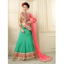 Traditional Green Banarasi Silk Lehenga Choli - 19535