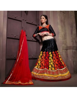 Ethnic Wear Black Net Lehenga Choli - 19754