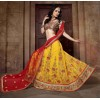 Designer Yellow Net Lehenga Choli - 19759