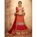 Traditional Wear Royal Red Designer Bridal Lehenga Choli - 19770