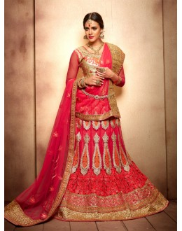 Wedding Wear Royal Pink Designer Bridal Lehenga Choli - 19773