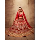 Traditional Wear Royal Red Designer Bridal Lehenga Choli - 19782