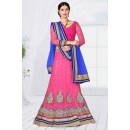 Party Wear Pink Designer Net Lehenga Choli - 19790