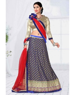 Blue Colour Designer Net Lehenga Choli - 19795