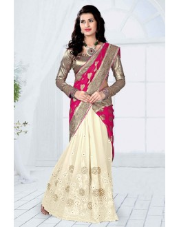 Party  Wear Pink Georgette Designer Saree  - 19800