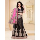 Wedding Wear Black Designer Lehenga Choli - 19810