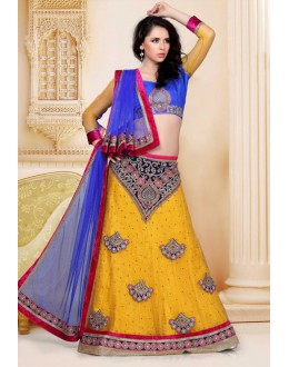 Festival Wear Yellow Designer Lehenga Choli - 19812