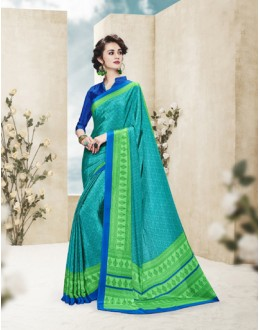 Party Wear Multi Colour Printed Saree  - 19874