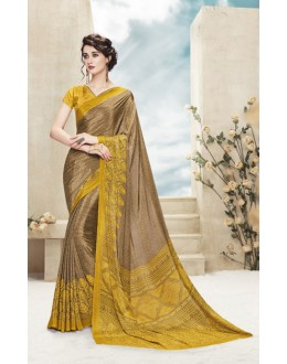 Party Wear Multi Colour Printed Saree  - 19878