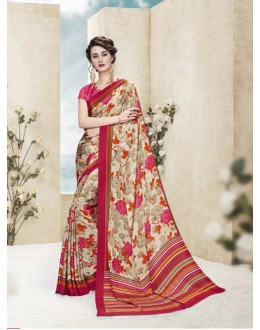 Wedding Wear Multi Colour Printed Saree  - 19880