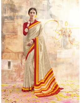 Festival Wear Multi Colour Printed Saree  - 19888