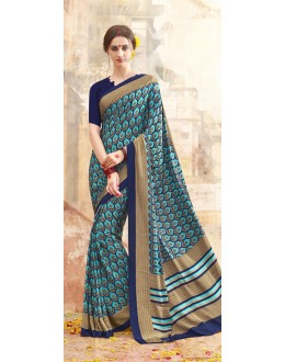 Party Wear Multi Colour Printed Saree  - 19889
