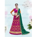 Traditional Wear Pink Designer Net Lehenga Choli - 19905