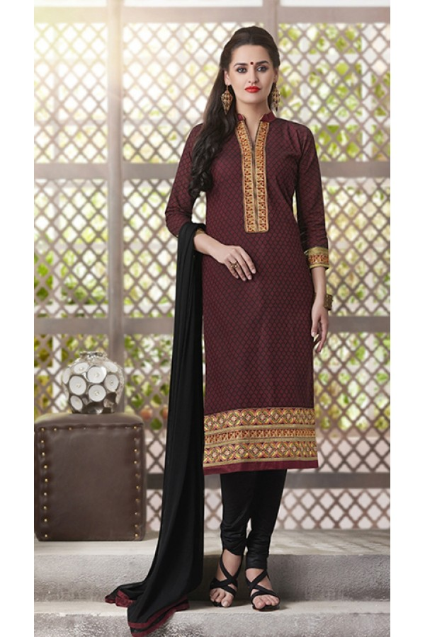 6d9beed6b Party Wear Readymade South Cotton Maroon Salwar Suit - 20084