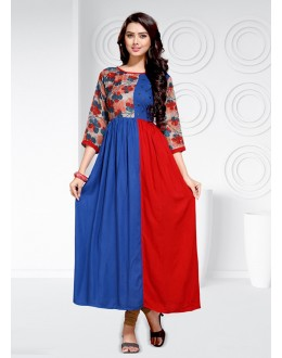 Party Wear Readymade Multi-Colour Rayon  Kurti - 20460