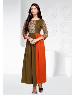 Festival Wear Readymade Multi-Colour Rayon  Kurti - 20461