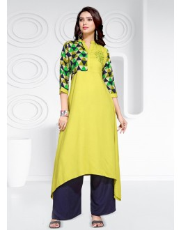 Wedding Wear Readymade Multi-Colour Rayon  Kurti - 20462