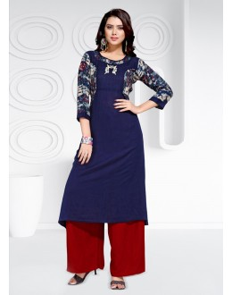 Party Wear Readymade Multi-Colour Rayon  Kurti - 20464