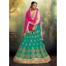 Ethnic Wear Faux Georgette Blue Lehenga - 20475