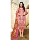 Traditional Wear Multicolour Satin Cotton Salwar Suit - 20700