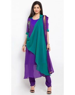 Festival Wear Readymade Purple Salwar Suit  - 20908