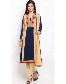 Ethnic Wear Readymade Blue Salwar Suit  - 20909