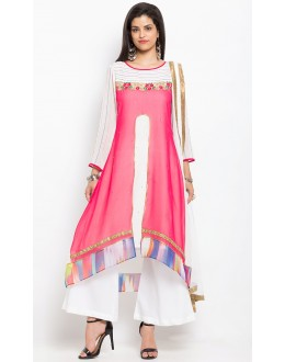 Wedding Wear Readymade Off White Salwar Suit  - 20911