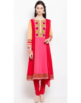 Wedding Wear Readymade Pink Salwar Suit  - 20918