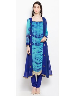 Casual Wear Readymade Blue Salwar Suit  - 20921