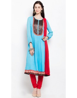Wedding Wear Readymade Blue Salwar Suit  - 20922