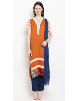 Casual Wear Readymade Rust Salwar Suit  - 20928
