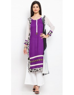 Wedding Wear Readymade Purple Salwar Suit  - 20932